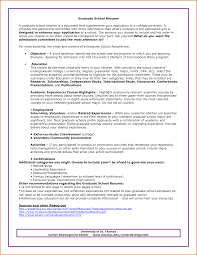 Sample Resume For Graduate School Application Free Sample Resumes