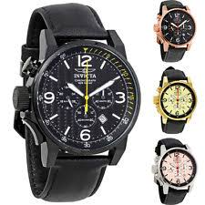 invicta watch invicta i force chronograph rose dial black leather mens watch choose color