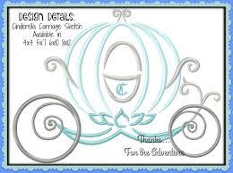 Cinderella Applique Design Princess Cinderellas Cinderella Carriage Sketch Digital