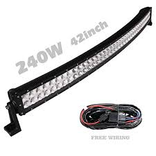 solidex 240w 42inch curved led light bar 30 degree spot 60 solidex 240w 42inch curved led light bar 30