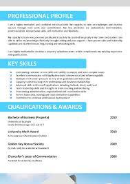 Resume Example 55 Cv Template Australia Best Cv Format 1 Page