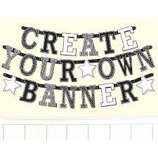 Black White Custom Letter Banner Birthday 50 50 Factory Outlet