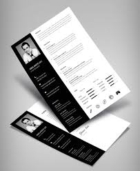 Classy Black White Resume Cv Template With Cover Letter Free