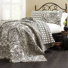 cotton quilts queen size.  Quilts Queen Size 3Piece Quilt Set 100Percent Cotton In Black White Damask In Quilts Size 0