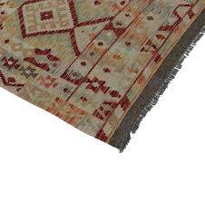 this charismatic modern afghani tribal kilim rug with boho chic style is anything but boring