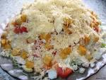 Салаты с ананасом и курицей и плавленным сыром