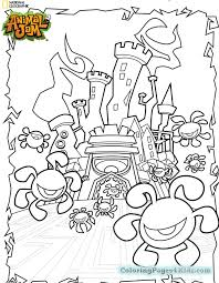 Animal Jam Wolf Coloring Pages At Getdrawingscom Free For