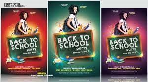 School Poster Designs Photoshop Basic Tutorial Make A Party Flyer Back To School Youtube