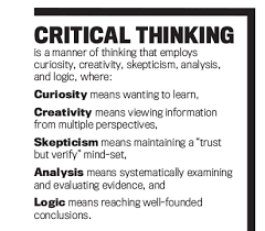 Critical Thinking in Every Domain of Knowledge and To what extent are we teaching and cultivating in students intellectual  character  Think of intellectual humility  Intellectual humility is not  humbleness