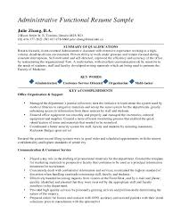 Functional Resume Template Pdf 10 Executive Administrative Assistant