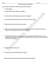 essay on holocaust terrible things by e bunting holocaust allegory questions essay  terrible
