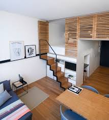 Loft home office Modern Loft Home Office With Compact Home Office That Was Built From Small Loft Space Zoku Interior Design Loft Home Office With Compact Home Office That Was Built From Small