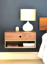 wall mounted nightstand with drawer mount night stand floating table lamps