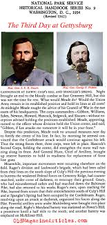 what happened on the third day at battle of gettysburg third day the battle of gettysburg day three national park service 1954