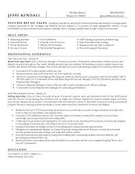 executive resume example retail cv template sales environment retail resume template free