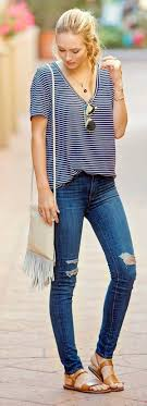 Best 25 Ripped jeans outfit ideas on Pinterest Teen fashion. 45 Ripped Jeans Outfit Ideas every stylish girl should try