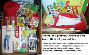Here is my Operation Christmas Child box for a 10-14 year old ...