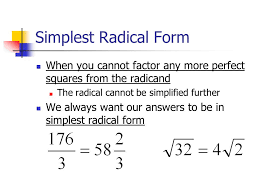 factor form definition simplest radical form definition slide 3 ideal accordingly when you