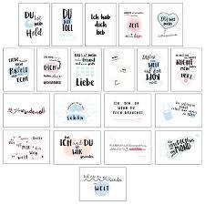 20er Postkarten Set Liebe Schöne Sprüche Motive
