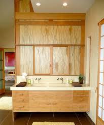 bath vanities Bathroom Contemporary with bath mat bamboo cabinets