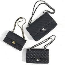 black and white chanel bags. below, we have a photo of three classic chanel flap bags. two are authentic, one is fake. can you spot it? black and white bags p