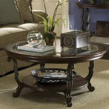 image of modern round coffee table shelving
