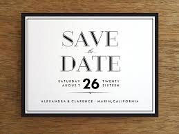 Printable Save The Date Classic Black And White E M Papers