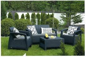 keter corfu 2 rattan sofa outdoor garden furniture graphite with cream cushions keter corfu coffee table