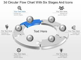 3d Flow Chart Powerpoint Lc 3d Circular Flow Chart With Six Stages And Icons