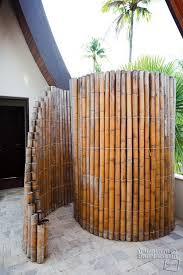 walk in bamboo shower