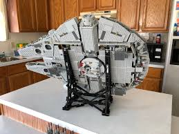 lego moc 10219 efferman s vertical stand for millennium falcon 75192 star wars 2017 rebrickable build with lego
