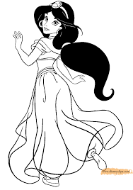 Either way, all of these jasmine coloring pages look very adorable, like the princess herself. Jasmine Coloring Pages Free Printable High Quality Coloring Pages Coloring Home