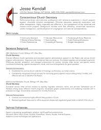 Resume For Secretary