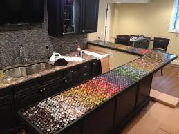 bottle cap furniture. Bottle Cap Bar Top Furniture