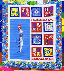81 best Dr. Seuss fabric projects images on Pinterest   Quilt ... & The Magical Cat in the Hat Quilt Kit by Robert Kaufman Fabrics Adamdwight.com