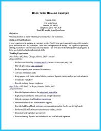 Entry Level Bank Teller Resume - Eco-Zen.info