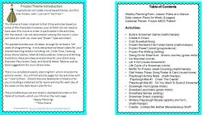 Activity Plan Template For Preschool – Agoodmorning.co