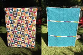 Broken Dishes Quilt – Binding and the Finished Quilt | Craft Takeover & quilt front and back Adamdwight.com