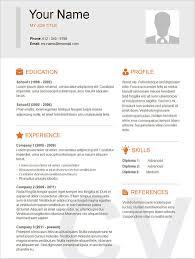 Simple Resume Format Simple Resume Format For Experienced Menu and Resume 53