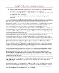Gallery Of Resume Professional Summary Examples