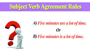 Subject Verb Agreement Rules In English