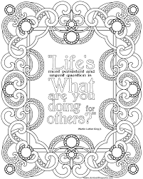 Quote Coloring Pages To Print At Getdrawingscom Free For Personal