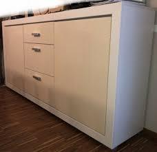 Reserviert Esszimmer Wohnzimmer Sideboard Weiß Hochglanz Creme