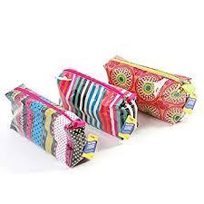 flomo fashion zipper pouch set 3 pouches cosmetic black bag chiceco makeup bag
