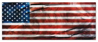 flag metal wall art giclee on metal