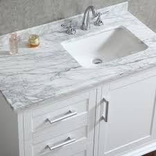Ace 42 inch Single Sink White Bathroom Vanity Set With Mirror
