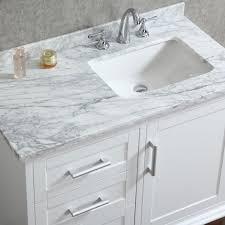 Single white bathroom vanities Vessel Sink Ace 42 Inch Single Sink White Bathroom Vanity With Mirror Listvanitiess Ace 42 Inch Single Sink White Bathroom Vanity Set With Mirror