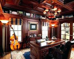 masculine home office. Masculine Office Decor Traditional Home Decorating Ideas For Men With Glaring Chandelier
