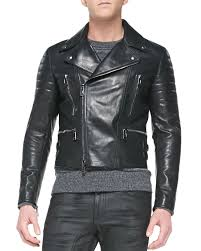 belstaff las leather biker jacket