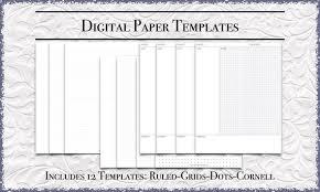 Printable Wide Ruled Paper Simple Digital Paper Bundle US Letter Size Printable PDF Etsy
